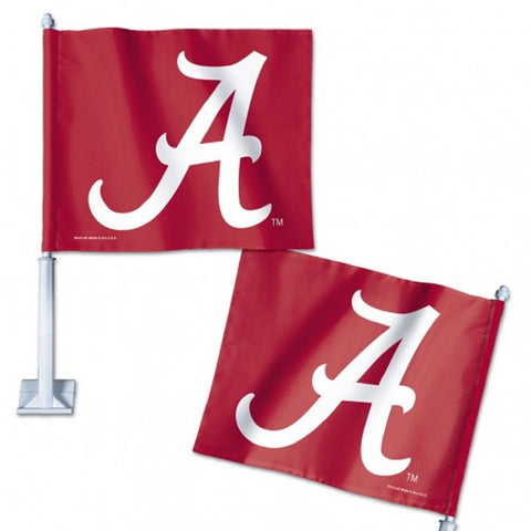 "UNIVERSITY ALABAMA CAR FLAG 11.75"" X 14"" - Hawkins Footwear and Sports  - 1"