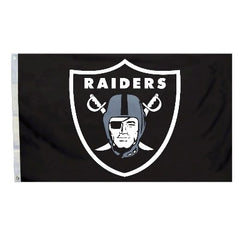 Raiders  Logo Premium  3' X 5' Flag