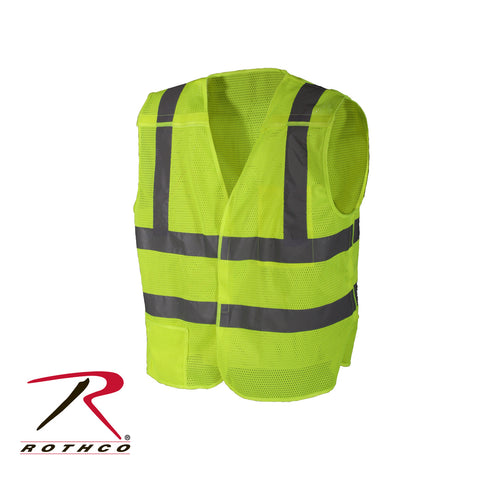 5 Point Breakaway Vest Safety Green