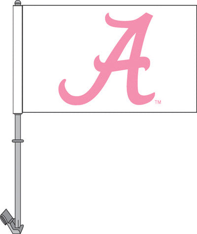 "Alabama Crimson Tide Pink A 11"" X 18"" 2 Sided Car Flag"