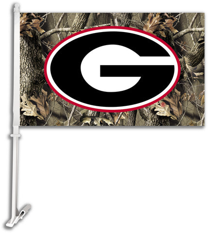 "Georgia Realtree Camo 11"" X 18"" 2 Sided Car Flag"