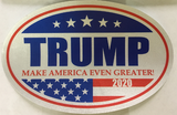 TRUMP 2020 Oval Cling/Stickers