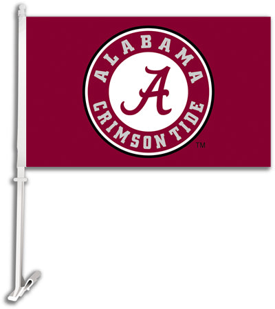 "Alabama Crimson Tide 11"" X 18"" 2 Sided Car Flag"