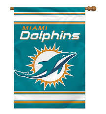 "28"" X 40"" Miami Dolphins 2-sided House Flag"