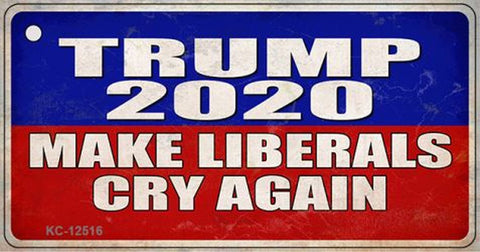 Trump 2020 Make Libs Cry Again Keychain