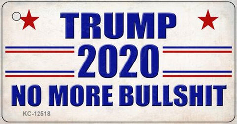 Trump 2020 No More BS Keychain