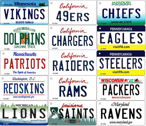 ALL State Background NFL Team Magnet