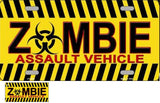 Zombie Assault Vehicle License Plate