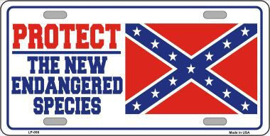 New Endangered Species Flag License Plate - Hawkins Footwear and Sports