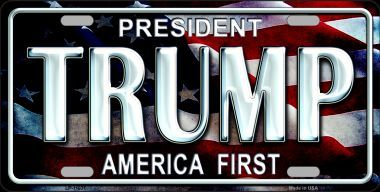 Trump America First License Plate