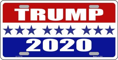 Trump 2020 Novelty Metal License Plate