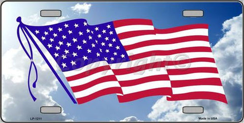 LP1211 US Flag License Plate - Hawkins Footwear and Sports