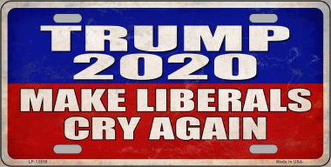Trump 2020 Make Libs Cry Again License Plate