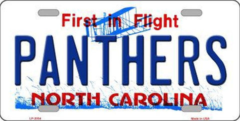 Panthers North Carolina State License Plate - Hawkins Footwear and Sports