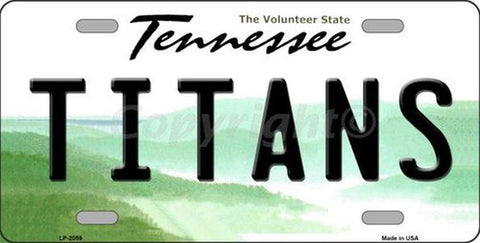 Titans Tennesse State  License Plate