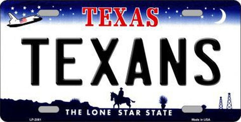 Texans Texas State Metal License Plate - Hawkins Footwear and Sports  - 1