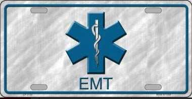 EMT Metal License Plate