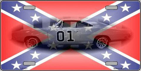 Confederate Flag Charger License Plates