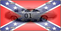 Confederate Flag Charger License Plates - Hawkins Footwear and Sports  - 1