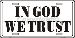 Religious/God License Plates (Many Styles) - Hawkins Footwear and Sports  - 22