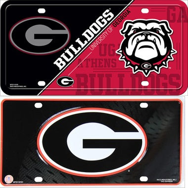 Georgia Bulldogs Deluxe  Metal License Plate