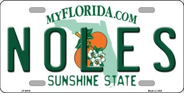 Noles Florida State License Plate