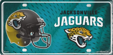 Jacksonville Jaguars 2017-18 Metal License Plate