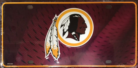 Washington Redskins  Metal License Plate
