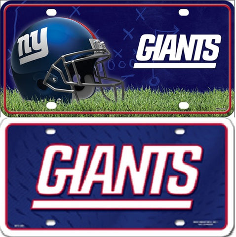 New York Giants  Metal License Plate