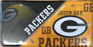 Green Bay Packers 2017-18 Metal License Plate