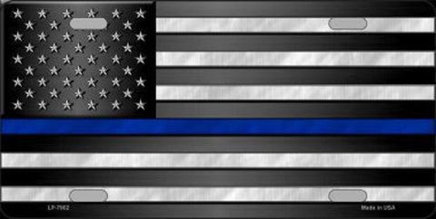 American Flag Thin Blue Line License Plate