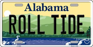 Roll Tide Alabama State License Plate