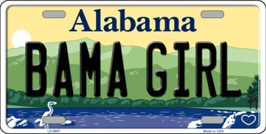 Bama Girl Alabama State License Plate