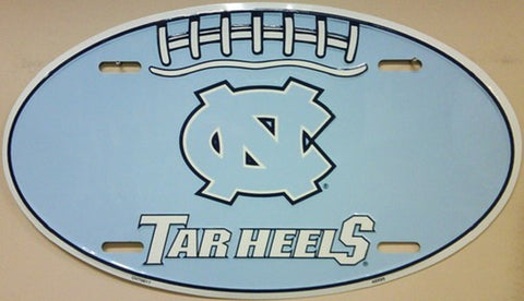 Tarheels Oval Metal License Plate