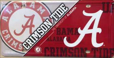 Alabama Crimson Tide Deluxe  Metal License Plate