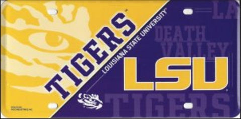 LSU  Metal License Plate