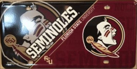 Florida State Deluxe  Metal License Plate - Hawkins Footwear and Sports  - 1