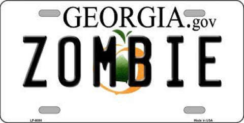 Zombie Georgia State License Plate