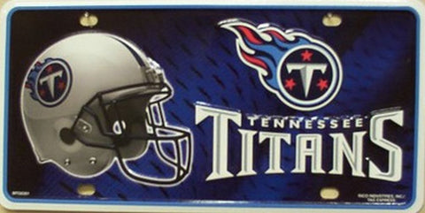 Tennessee Titans Metal License Plate - Hawkins Footwear and Sports