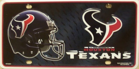 Houston Texans Metal License Plate
