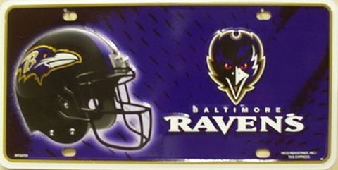 Baltimore Ravens Metal License Plate - Hawkins Footwear and Sports