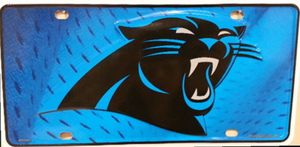 Carolina Panthers Metal License Plate - Hawkins Footwear and Sports