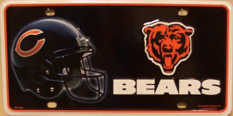 Chicago Bears Metal License Plate - Hawkins Footwear and Sports