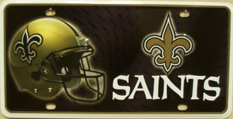 New Orleans Saints Metal License Plate - Hawkins Footwear and Sports