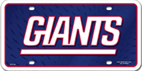 New York Giants  Metal License Plate - Hawkins Footwear and Sports