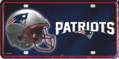 New England Patriots Metal License Plate - Hawkins Footwear and Sports  - 1
