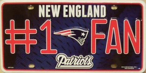 Patriots #1 Fan Metal License Plate