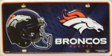 Denver Broncos Metal License Plate - Hawkins Footwear and Sports  - 1