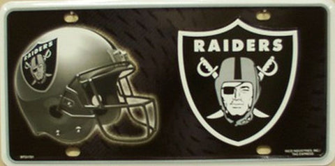 Oakland Raiders Metal License Plate - Hawkins Footwear and Sports