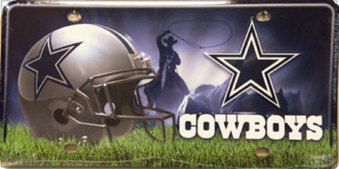 Dallas Cowboys Metal License Plate - Hawkins Footwear and Sports  - 1